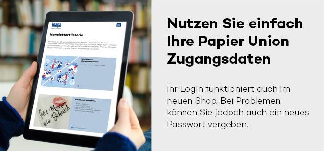 Webshop der ehemaligen Papier Union